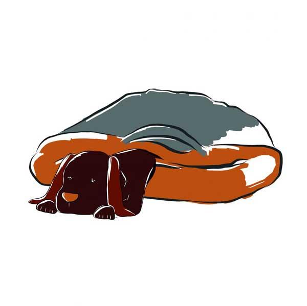 Hondenmand liggen